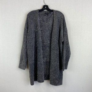 LANE BRYANT Gray and Silver Cardigan